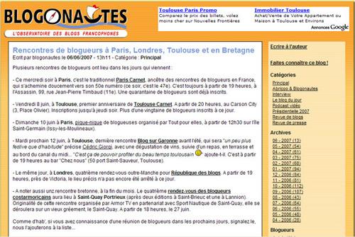 Blogonautes
